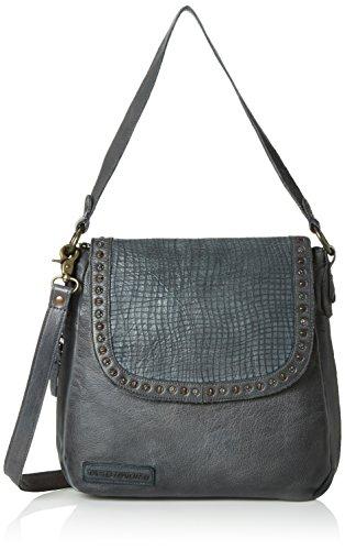 Taschendieb Damen TD0743 Schultertaschen, 27x29x8 cm Grau (Stone)