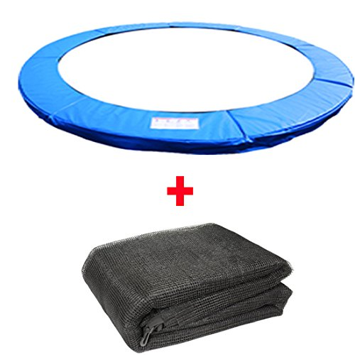 Greenbay TRAMPOLINE REPLACEMENT PAD PADDING SAFETY NET ENCLOSURE SURROUND 10FT WITH 8 SLEEVE Blue