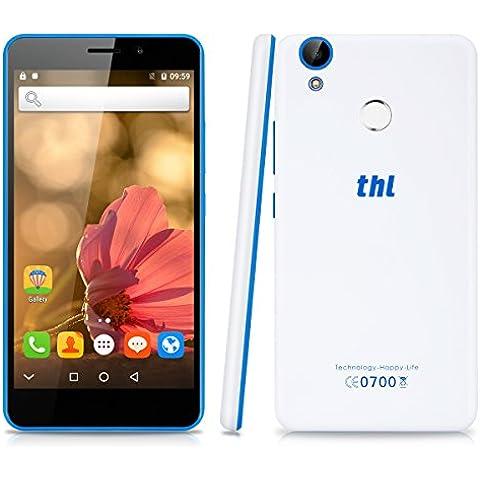 THL T9 - 4G Smartphone Libre Android 6.0 (Pantalla 5.5'' IPS, MT6737 Quad Core 1.3 GHz, 1GRam, 8GRom, Dual Sim, Huella Dactilar Smart
