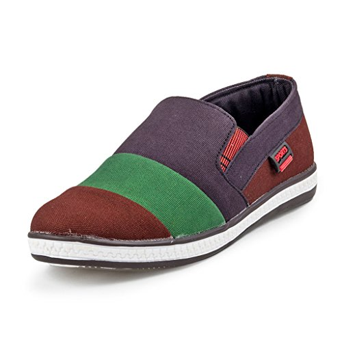 PAN Mens G04 MULTICOLOUR Fabric Casual Shoe-7 UK