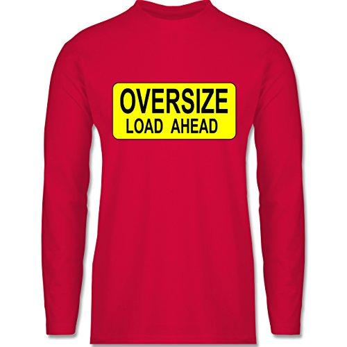 Shirtracer Trucker - Oversize Load Ahead Warnschild - Herren Langarmshirt Rot