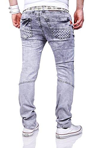 MT Styles Jeans Slim Fit pantalon homme RJ-3113 Gris