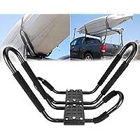 Ambienceo 4 Supports de Camion de Voiture Universel Support de Toit Toit Support de Kayak Planche Support Crossbar Barre en Forme de Kayak Transporteur canoë Bateau Surf Ski Toit Montage Voiture