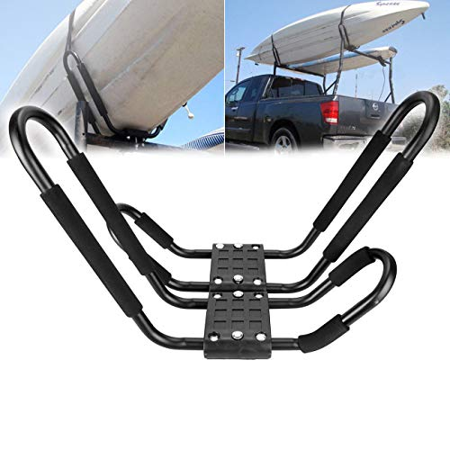 Ambience 2 Racks Universal Auto LKW Dach Top Mount Träger Dach Kayak Board Rack Crossbar J Shaped Bar Kajak Träger Kanu Boot Surf Ski Dach Top Mount Auto Shaped Board