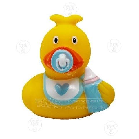 Lilalu Baby Boy Mini Rubber Duck Bath Toy