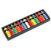 Owfeel Mini 13columnas de plástico Abacus Soroban Aritmética Mathematic herramienta de cálculo de educación con cuentas de colores