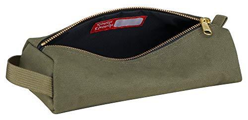 Rough Enough Militärische hoch schwere ballistische Zoll-Leinwand Mufti-funktionelle klassische Vintage Small Tool Pouch Bleistift Case haltbare Tasche ReißVerschluss Halter für die Kunst Versorgung