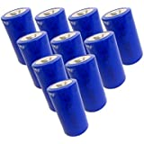 ER34615 3.6V 19000mAh Size D Lithium Button Top Battery 10 Pack