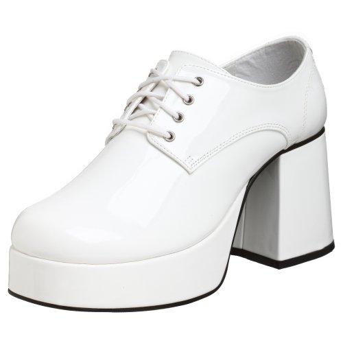 PleaserJazz02/b - Brogue uomo Bianco (White)