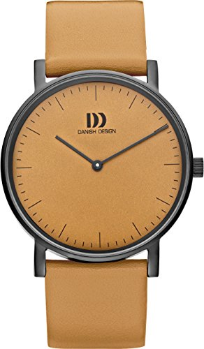 Danish Design Women's Quartz Watch with Orange Dial Analogue Display and Orange Leather Strap DZ120477