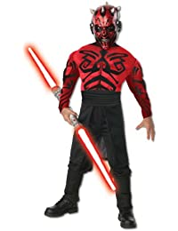 Rubies Kost-me Star Wars Deluxe Muscle Chest Darth Maul Kinderkost-m Small - 4-6