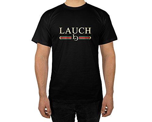 rt mit Aufdruck in Schwarz Gr. M Lauch Gang Member Design Boy Top Jungs Shirt Herren Basic 100% Baumwolle Kurzarm (Hipster Girl Kostüm)