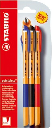 stabilo-point-visco-3er-blister-blau-schwarz-rot-tintenroller-mit-revolutionarer-tintentechnologie