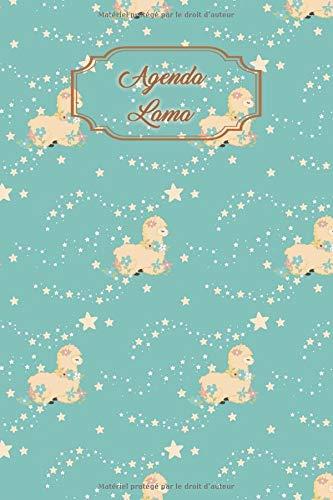Agenda Lama: Agenda universel avec couverture et intérieur Lama - 56 semaines avec des pages supplémentaires à découvrir (15 x 23 cm)