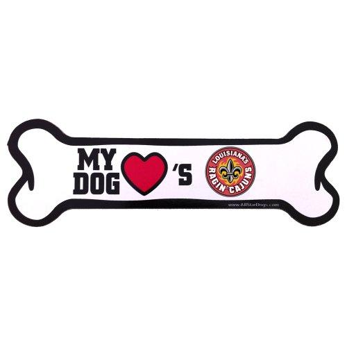 All Star Dogs NCAA Louisiana Lafayette Watson 'Cajuns Knochenform Magnet -