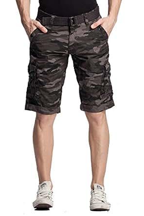 BEEVEE Men's Cotton Cargo Shorts (FMBR1490GREY_30_Grey_30)