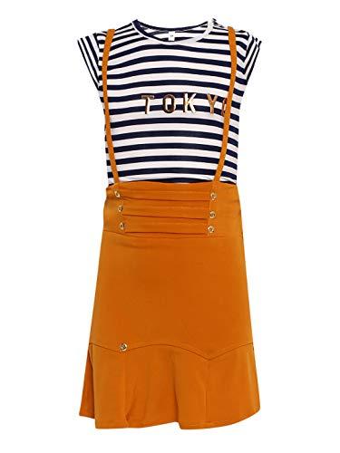 Aarika Baby Girls' Regular Fit Clothing Set(DR-3011_Yellow & White_18-24 Months)