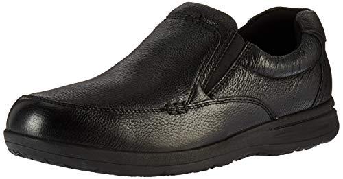 Nunn Bush Men's Cam Moc Toe Slip-On Black Tumbled Leather 14 W US Black Leather Moc Toe