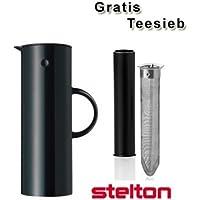 Stelton Isolierkanne / Thermoskanne schwarz + gratis Teesieb