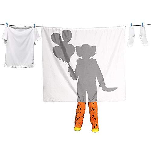 loween Dekoration - Clown Wäscheleine Silhouette Lebensgröße ()