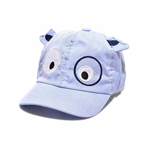 FALAIDUO Kids Boys Girls Cute Cartoon Dog Beret Hat Sun Hat Baseball Cap for 1-3 Years (Z_Blue)