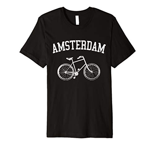 Amsterdam T-Shirt Fahrrad Holland Hollandrad Souvenir Shirt