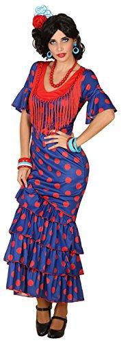 Imagen de disfraz de flamenca azul para mujer