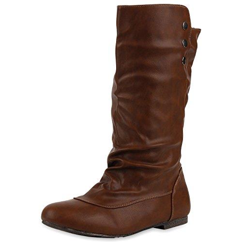 Stylische Damen Stiefel High Heels Gefüttert Schnallen Schuhe Dunkelbraun (Stiefel Country Western)