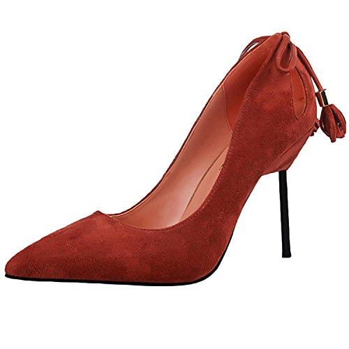 Oasap Femme Chaussure Pointue A Talons Hauts Talon Aiguille Jacinth