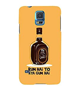 For Samsung Galaxy S5 :: Samsung Galaxy S5 G900I :: Samsung Galaxy S5 G900A G900F G900I G900M G900T G900W8 G900K Rum Hai to Kya Gum Hai, Black, Drink, Lovely Pattern, Printed Designer Back Case Cover By CHAPLOOS