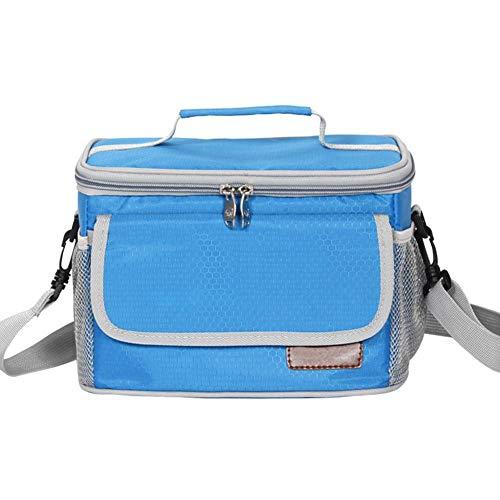 Kigoing borsa pranzo riutilizzabile isolata tote impermeabile a prova di perdite per alimenti caldi o freddi, borsa da spalla per ufficio/scuola / picnic per uomo/donna / bambino
