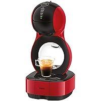 Krups Lumio Roja KP1301- Cafetera de cápsulas Dolce Gusto Nestlé automática 1600 W de 15 bares de presión, depósito.