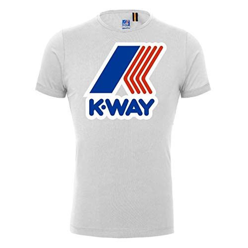K-Way Homme Pete Macro T-Shirt Slim Fit, Blanc, Larg