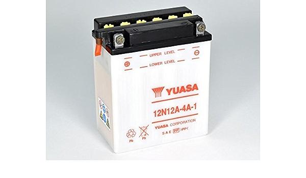 Batterie Yuasa 12n12a 4a 1 Dc Offen Ohne Säure 12v 12ah Cca 120a 134x80x160mm Auto