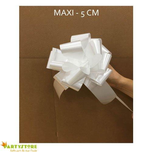 Party Store SRL - Paquete 50 lazos blancos 5 cm decoración