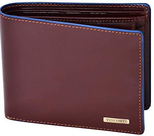 Visconti Trifold Leder Herren Geldbörse mit RFID Schutz Portemonnaie Männer Geldbeutel Portmonaise Portmonee Geldtasche Brieftasche Alps