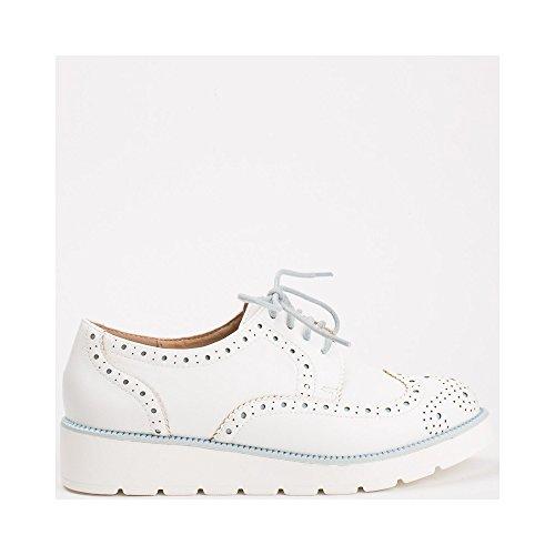 Ideal Shoes ,  Scarpe stringate donna Blu