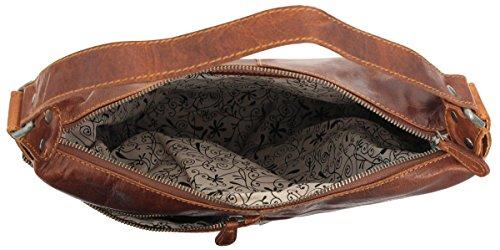 Gusti Leder studio ''Monica'' borsa a tracolla shopper città lavoro università robusta spalla a mano pelle marrone 2H50-20-2