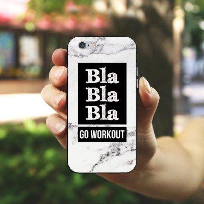 Apple iPhone X Silikon Hülle Case Schutzhülle Workout Fitness Spruch Silikon Case schwarz / weiß