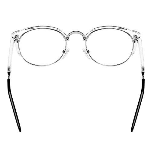 forepin® Monture Lunettes de Vue Homme Vintage Métal Rétro Unisexe Femme  1 2 Cadre Frame Lentille Clair Verres Transparent Nouveau - Transparent ... 161aee8bade7