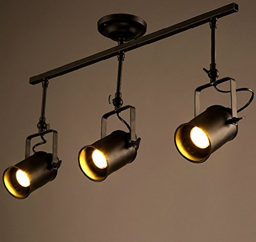 BAYCHEER Schienenleuchte Rail System Schienenstrahler Deckenleuchte Lichter Spotlight mit Zylinder Lampenschirm 3 Flammige -