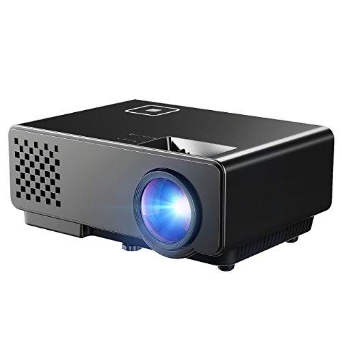 Mpow Mini LED Beamer Tragbarer LCD Video Projektor Heimkino mit HDMI Kabel AV Kabel unterstützt USB VGA HDMI AV für PC Laptop für Videospiel Film Backyard Kino