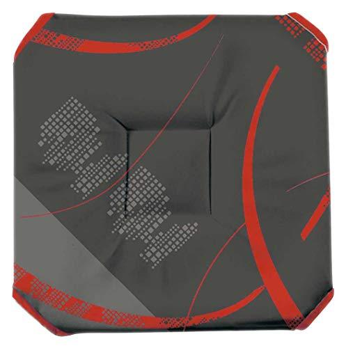 Galette de chaise anti-taches à rabats Astrid rouge B