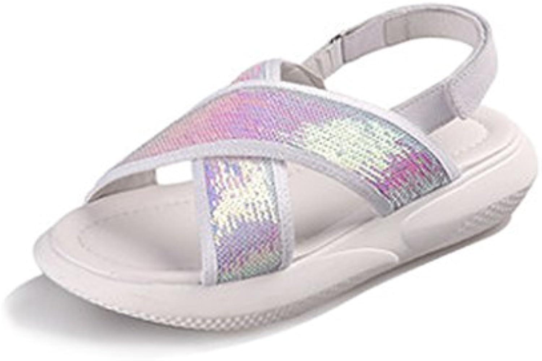 YUBINliangxie Sandalias Salvajes/Zapatos Planos Planos Ocasionales Sandalias Ligeras Femeninas