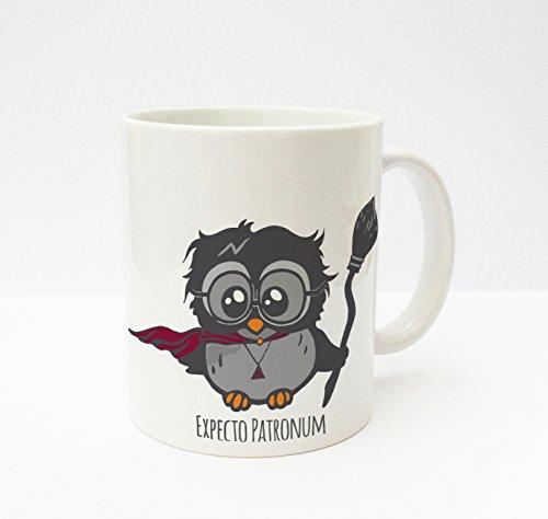ilka parey wandtattoo welt® Becher Tasse Kaffeetasse Cup Mug Eule Harry ts140