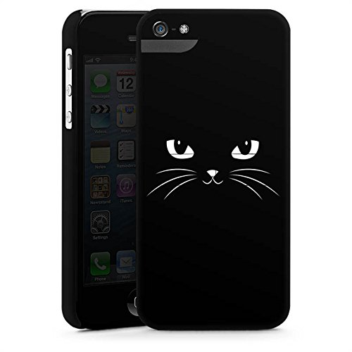Apple iPhone X Silikon Hülle Case Schutzhülle Black Cat Katze Kater Premium Case StandUp