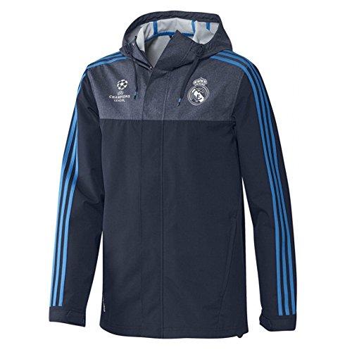 adidas Real EU ALLW JK - Chaqueta para hombre, color azul marino / azul / blanco, talla XXL