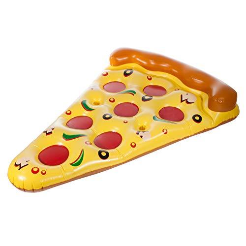 Smartfox, materasso ad aria xxl, a forma di fetta di pizza, gonfiabile, per piscina, mare, circa 180 x 150 cm.