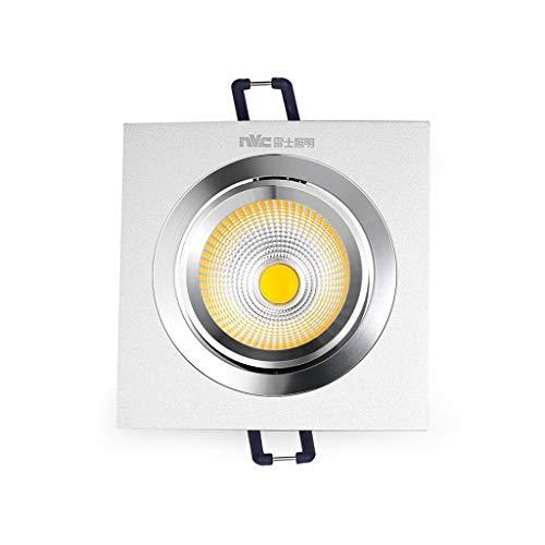 Briskaari Shop- Quadratische Grilllampe Deckeneinbauleuchten Flur Badezimmer COB Leuchte LED Panel Light Standleuchten (Farbe : Gelbes Licht, größe : 3w-COB)