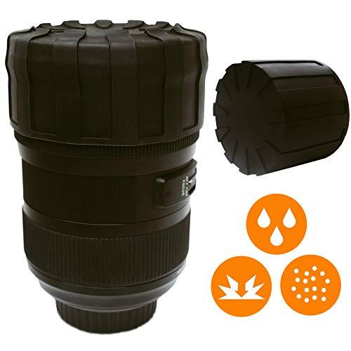 LENS DEFENDER Objektivkappe | Herausragender universeller Objektivschutz | Schutz für Kameraobjektive vor allen Elementen, Sand, Staub, Wasser